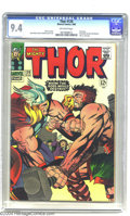 Silver Age (1956-1969):Superhero, Thor #126 (Marvel, 1966) CGC NM 9.4 Off-white pages. This was the series' first issue, with the numbering picking up where ...