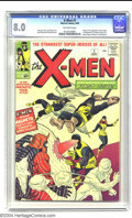 Silver Age (1956-1969):Superhero, X-Men #1 (Marvel, 1963) CGC VF 8.0 Off-white pages. After the dusthad started to settle from the first stampede of Marvel-A...