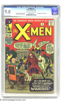 X-Men #2 (Marvel, 1963) CGC VF/NM 9.0 Off-white to white pages. The devious Vanisher makes his first appearance in this...