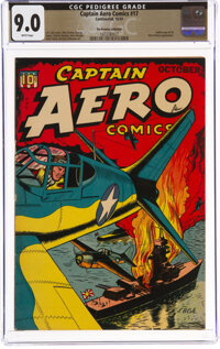 Captain Aero Comics #17 The Promise Collection Pedigree (Continental, 1944) CGC VF/NM 9.0 White pages