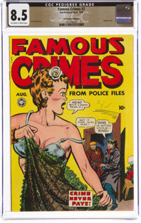Famous Crimes #2 The Promise Collection Pedigree (Fox Features Syndicate, 1948) CGC VF+ 8.5 Off-white to white pages