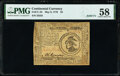 Colonial Notes:Continental Congress Issues, Solid 3 Serial Number Continental Currency May 9, 1776 $3 PMG Choice About Unc 58.. ...