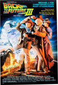Movie/TV Memorabilia:Autographs and Signed Items, Back to the Future Part III Cast Sig...