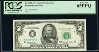 Low Serial Number 586 Fr. 2113-H* $50 1963A Federal Reserve Star Note. PCGS Gem New 65PPQ