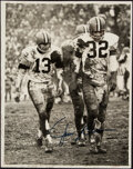 Autographs:Photos, Jim Brown Signed Oversized Photograph & Paul Brown Signed ...