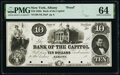 Albany, NY- Bank of the Capitol $10 18__ Haxby Unlisted Proof PMG Choice Uncirculated 64, 4 POCs