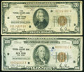 Fr. 1870-B $20 1929 Federal Reserve Bank Note. Very Good-Fine; Fr. 1890-B $100 1929 Federal Reserve Bank Note. ... (Tota...