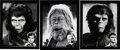 """Movie/TV Memorabilia:Autographs and Signed Items, Collection of (3) John Chambers personal framed oversize photos of Maurice Evans as """"Dr. Zaius"""", Kim Hunter as """"Dr. Zira"""" and..."""