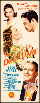 """The Secret of Dr. Kildare (MGM, 1939). Rolled, Fine+. Insert (14"""" X 36""""). Drama"""