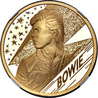"""Great Britain: Elizabeth II gold Proof """"David Bowie"""" 200 Pounds (2 oz) 2020 PR70 Ultra Cameo NGC"""