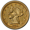 1840-O $2 1/2 XF45 PCGS. Variety 2. Small mintmark. As the first quarter eagles struck at the New Orleans Mint, the 1840...