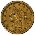 1840-C $2 1/2 -- Mount Removed -- PCGS Genuine. AU Details. Mintage 12,822. From The Tucker Collection of Quarter Eag...