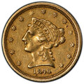 1840 $2 1/2 -- Polished -- PCGS Genuine. AU Details. Mintage 18,800. From The Tucker Collection of Quarter Eagles....(PC...