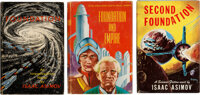 Isaac Asimov. The Original Foundation Trilogy. New York: Gnome Press, [1951]-[1953]. First editions, first state binding...