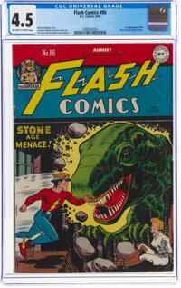 Flash Comics #86 (DC, 1947) CGC VG+ 4.5 Off-white to white pages