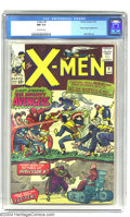 Silver Age (1956-1969):Superhero, X-Men #9 (Marvel, 1965) CGC NM 9.4 Off-white pages. What good are superteams if you can't have them battle each other once i...