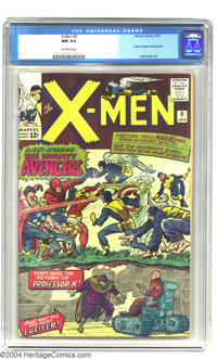 X-Men #9 (Marvel, 1965) CGC NM 9.4 Off-white pages. What good are superteams if you can't have them battle each other on...