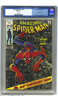 Bronze Age (1970-1979):Superhero, Amazing Spider-Man #100 (Marvel, 1971) CGC NM+ 9.6 White pages. A milestone issue for Spider-Man, with a John Romita Sr. cov...