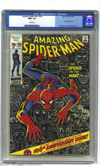 Amazing Spider-Man #100 (Marvel, 1971) CGC NM+ 9.6 White pages. A milestone issue for Spider-Man, with a John Romita Sr...