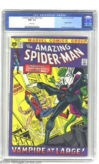 Amazing Spider-Man #102 (Marvel, 1971) CGC NM+ 9.6 White pages. This key issue features the origin of Morbius. Gil Kane...