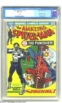 Amazing Spider-Man #129 (Marvel, 1974) CGC NM+ 9.6 White pages. A mere single copy -- yes, only one -- of the first Puni...