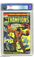 Bronze Age (1970-1979):Superhero, The Champions #1 Pacific Coast pedigree (Marvel, 1975) CGC NM+ 9.6 Off-white pages. Origin and first appearance of the Champ...