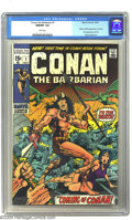 Bronze Age (1970-1979):Superhero, Conan The Barbarian #1 (Marvel, 1970) CGC NM/MT 9.8 White pages. Here's a book that started a big trend back in 1970, one th...