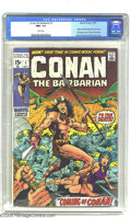 Bronze Age (1970-1979):Superhero, Conan the Barbarian #1 (Marvel, 1970) CGC NM+ 9.6 White pages. Two stars were born back in 1970: Conan as a comic character,...