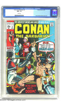 Bronze Age (1970-1979):Superhero, Conan the Barbarian #2 (Marvel, 1970) CGC NM+ 9.6 White pages.Barry Windsor-Smith cover and art. Overstreet 2003 NM 9.4 val...