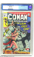Bronze Age (1970-1979):Superhero, Conan the Barbarian #3 (Marvel, 1971) CGC NM+ 9.6 Off-white towhite pages. Barry Windsor-Smith cover and art. Overstreet 20...