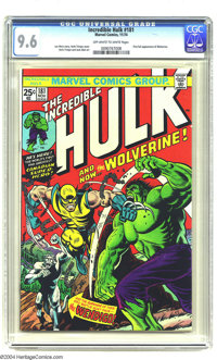 The Incredible Hulk #181 (Marvel, 1974) CGC NM+ 9.6 Off-white to white pages. The hottest Bronze Age comic book of all h...