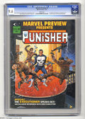 Marvel Preview #2 (Marvel, 1975) CGC NM+ 9.6 White pages. First origin of the Punisher, and the first appearance of Domi...