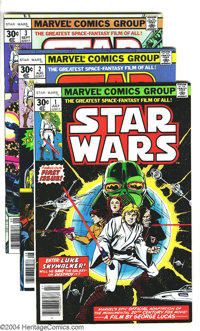 Star Wars Group (Marvel, 1977-86). This lot consists of Star Wars #1-103 (There are duplicate copies of issues #1, 6, an...