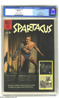 "Silver Age (1956-1969):Adventure, Four Color #1139 Spartacus (Dell, 1960) CGC NM 9.4 Cream to off-white pages. Here is Dell's adaptation of the movie ""Spartac..."
