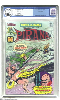 Thrill-O-Rama #3 Pacific Coast pedigree (Harvey, 1966) CGC NM+ 9.6 White pages. A tough to find Silver Age comic, it sta...