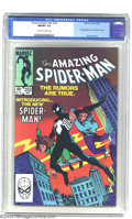 Modern Age (1980-Present):Superhero, Amazing Spider-Man #252 (Marvel, 1984) CGC NM/MT 9.8 Off-white towhite pages. The first appearance of Spider-Man's black co...