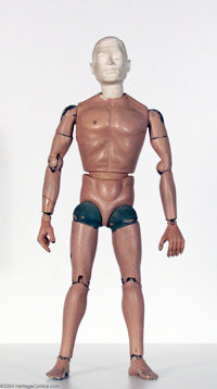 GI Joe - Early Hand-Made Prototype with Unpainted Head (Hasbro, 1964). This very early hand-crafted articulated prototyp...