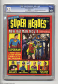 Magazines:Superhero, On the Scene Presents Super Heroes #1 (Warren, 1966) CGC NM- 9.2White pages. Publisher Jim Warren took advantage of 1966's ...