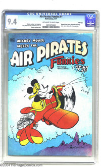 Air Pirates Funnies #1 Fred Todd File Copy (Hell Comics Group, 1971) CGC NM 9.4 Off-white to white pages. This is one of...