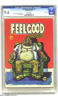 Feelgood Funnies #1 Fred Todd File Copy (Rip Off Press, 1972) CGC NM+ 9.6 White pages. A super high-grade copy of this e...