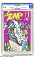 Bronze Age (1970-1979):Alternative/Underground, Zap Comix #6 (Apex Novelties, 1973) CGC NM+ 9.6 Off-white to white pages. Gilbert Shelton provides the mind-blowing cover ar...
