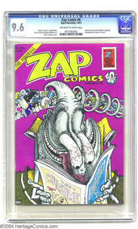 Zap Comix #6 (Apex Novelties, 1973) CGC NM+ 9.6 Off-white to white pages. Gilbert Shelton provides the mind-blowing cove...