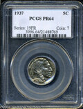Proof Buffalo Nickels: , 1937 PR 64 PCGS. ...