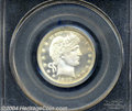 Proof Barber Quarters: , 1897 25C PR65 Cameo PCGS. Both sides display the ...