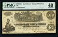"""Confederate Notes:1862 Issues, """"San Antonio Tex Apr 13/63"""" T39 $100 1862 PF-13 Cr. 294 PMG Extremely Fine 40.. ..."""