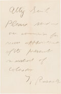 Autographs:U.S. Presidents, Theodore Roosevelt Autograph Letter Signed. ...