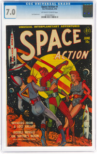 Space Action #1 (Ace, 1952) CGC FN/VF 7.0 Off-white to white pages