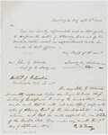 Autographs:U.S. Presidents, James K. Polk Autograph Letter Signed as President with Roger Taney Signed Statement as Chief Justice. ... (Total: 2 ...