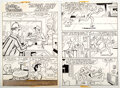 """Original Comic Art:Complete Story, Dan DeCarlo and Rudy Lapick Archie Giant Series Magazine #197 Complete 6-Page Story """"Angel Have Mercy"""" Original Ar... (Total: 6 Original Art)"""