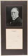 Autographs:Statesmen, William H. Taft Typed Letter Signed as Chief Justice. ...
